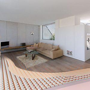 Podlahové kúrenie do domu